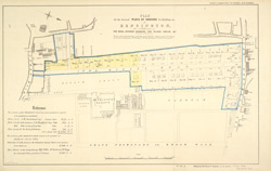 Plan of the several plots of ground for building on, at Kensington